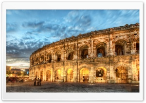 Amphitheatre, Nimes City HD Wide Wallpaper for Widescreen