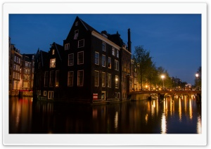 Amsterdam At Evening HD Wide Wallpaper for Widescreen