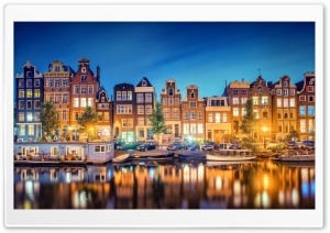 Amsterdam Lights HD Wide Wallpaper for 4K UHD Widescreen desktop & smartphone