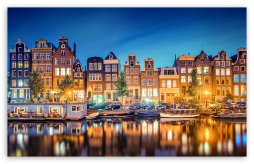 Amsterdam Lights HD wallpaper for Wide 16:10 5:3 Widescreen WHXGA WQXGA WUXGA WXGA WGA ; HD 16:9 High Definition WQHD QWXGA 1080p 900p 720p QHD nHD ; Standard 4:3 3:2 Fullscreen UXGA XGA SVGA DVGA HVGA HQVGA devices ( Apple PowerBook G4 iPhone 4 3G 3GS iPod Touch ) ; iPad 1/2/Mini ; Mobile 4:3 5:3 3:2 16:9 - UXGA XGA SVGA WGA DVGA HVGA HQVGA devices ( Apple PowerBook G4 iPhone 4 3G 3GS iPod Touch ) WQHD QWXGA 1080p 900p 720p QHD nHD ;
