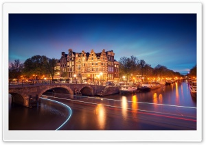 Amsterdam Night HD Wide Wallpaper for Widescreen