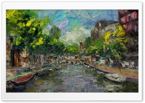 Amsterdam Painting HD Wide Wallpaper for Widescreen