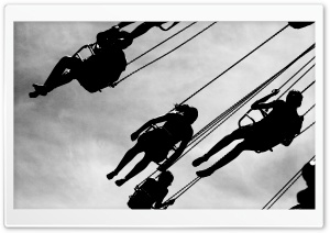 Amusement Park Black And White HD Wide Wallpaper for Widescreen