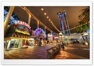 Amusement Park HDR HD Wide Wallpaper for Widescreen