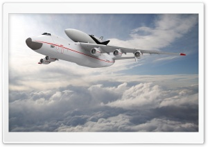An 225 Above Clouds HD Wide Wallpaper for Widescreen