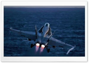 An FA-18C Hornet launches HD Wide Wallpaper for Widescreen