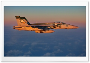 An FA-18E flies over the East China Sea HD Wide Wallpaper for Widescreen