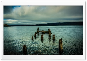 An Old Dock In The Lake Ultra HD Wallpaper for 4K UHD Widescreen desktop, tablet & smartphone