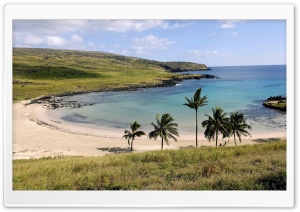 Anakena Beach Anakena Easter Island Chile HD Wide Wallpaper for Widescreen