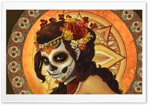 Ancient Girl Painting HD Wide Wallpaper for 4K UHD Widescreen desktop & smartphone