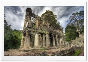 Ancient Library, Cambodia HD Wide Wallpaper for Widescreen