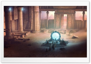 Ancient Portal Painting HD Wide Wallpaper for Widescreen