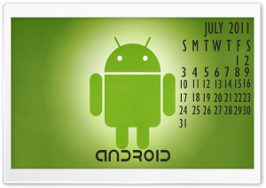 Android Calendar-July 2011 HD Wide Wallpaper for Widescreen
