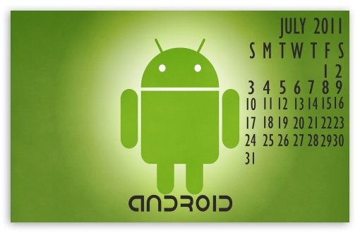 Calendar Wallpaper For Android : Android calendar july k hd desktop wallpaper for