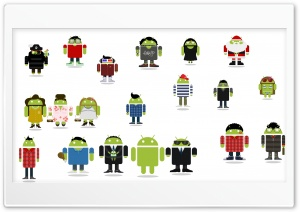 Android Family HD Wide Wallpaper for Widescreen