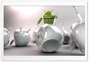 Android vs Apple HD Wide Wallpaper for Widescreen