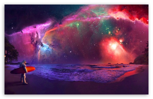 Andromeda Galaxy Astronaut Art Ultra Hd Desktop Background