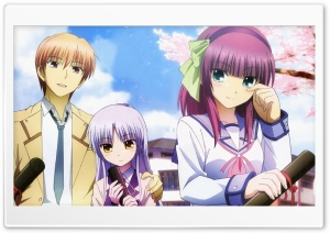 Angel Beats - Otonashi, Yuri and Angel HD Wide Wallpaper for Widescreen