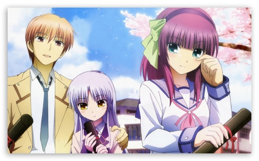 Angel Beats - Otonashi, Yuri and Angel ❤ 4K UHD Wallpaper for Wide 5:3 Widescreen WGA ; 4K UHD 16:9 Ultra High Definition 2160p 1440p 1080p 900p 720p ; Mobile 5:3 16:9 - WGA 2160p 1440p 1080p 900p 720p ;