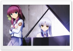 Angel Beats - Yuri And Angel Ultra HD Wallpaper for 4K UHD Widescreen desktop, tablet & smartphone
