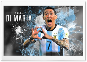 Angel Di Maria Argentina - 2016 HD Wide Wallpaper for 4K UHD Widescreen desktop & smartphone