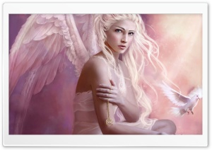 Angel Girl HD Wide Wallpaper for Widescreen