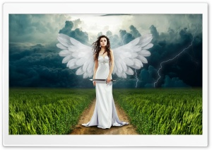 Angel on Earth Ultra HD Wallpaper for 4K UHD Widescreen desktop, tablet & smartphone