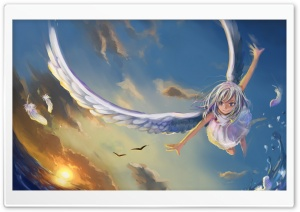 Angel Painting HD Wide Wallpaper for Widescreen