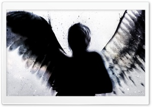 Angel Shadow HD Wide Wallpaper for Widescreen
