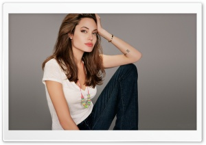Angelina Jolie Beautiful HD Wide Wallpaper for Widescreen