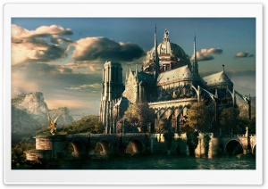 Angels Castle HD Wide Wallpaper for Widescreen