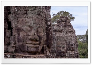 Angkor Thom, Cambodia HD Wide Wallpaper for Widescreen