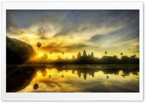 Angkor Wat, Cambodia HD Wide Wallpaper for Widescreen