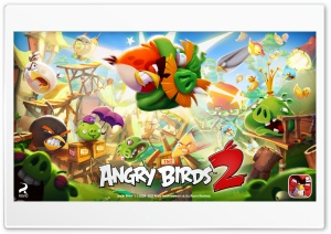 Angry Birds 2 Attack HD Wide Wallpaper for Widescreen