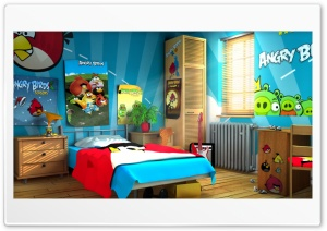 Angry Birds HD Wide Wallpaper for Widescreen