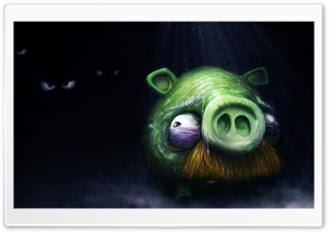Angry Birds Alone Pig HD Wide Wallpaper for Widescreen