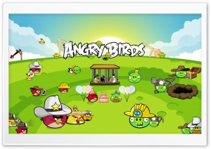 Angry Birds Best Party HD Wide Wallpaper for Widescreen