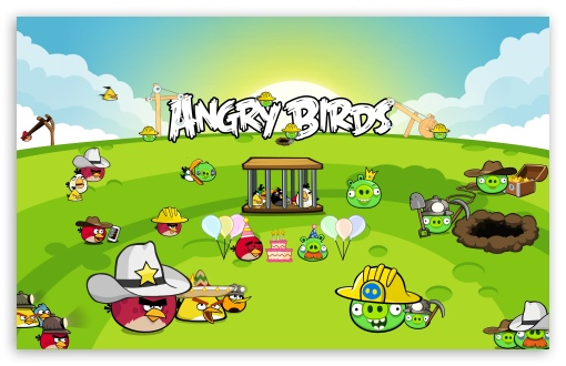 Angry Birds Best Party HD wallpaper for Wide 16:10 5:3 Widescreen WHXGA WQXGA WUXGA WXGA WGA ; HD 16:9 High Definition WQHD QWXGA 1080p 900p 720p QHD nHD ; Mobile 5:3 16:9 - WGA WQHD QWXGA 1080p 900p 720p QHD nHD ;