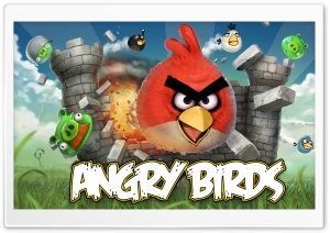 Angry Birds Game HD Wide Wallpaper for Widescreen
