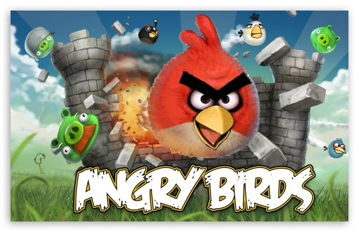Angry Birds Game HD wallpaper for Wide 16:10 5:3 Widescreen WHXGA WQXGA WUXGA WXGA WGA ; HD 16:9 High Definition WQHD QWXGA 1080p 900p 720p QHD nHD ; Mobile 5:3 16:9 - WGA WQHD QWXGA 1080p 900p 720p QHD nHD ;