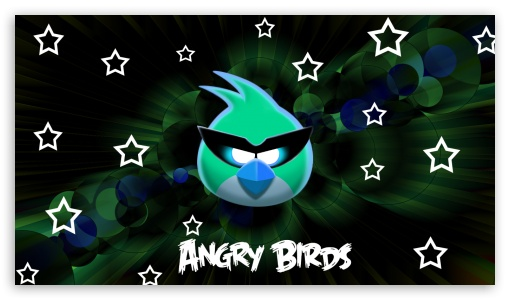 Angry Birds (Green Effect) UltraHD Wallpaper for 8K UHD TV 16:9 Ultra High Definition 2160p 1440p 1080p 900p 720p ; Mobile 16:9 - 2160p 1440p 1080p 900p 720p ;