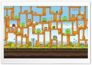 Angry Birds Hard Level HD Wide Wallpaper for Widescreen