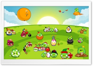 Angry Birds New Party HD Wide Wallpaper for Widescreen