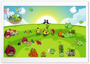 Angry Birds Party HD Wide Wallpaper for Widescreen