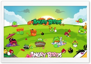Angry Birds Seasons Party HD Wide Wallpaper for Widescreen