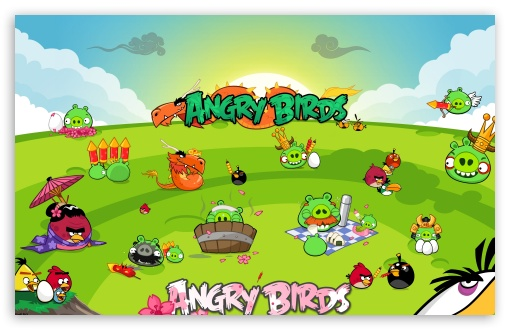 Angry Birds Seasons Party HD wallpaper for Wide 16:10 5:3 Widescreen WHXGA WQXGA WUXGA WXGA WGA ; Mobile 5:3 - WGA ;