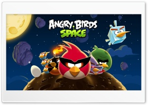 Angry Birds Space HD Wide Wallpaper for Widescreen