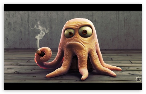 Angry Octopus HD wallpaper for Wide 16:10 5:3 Widescreen WHXGA WQXGA WUXGA WXGA WGA ; HD 16:9 High Definition WQHD QWXGA 1080p 900p 720p QHD nHD ; Mobile 5:3 16:9 - WGA WQHD QWXGA 1080p 900p 720p QHD nHD ;