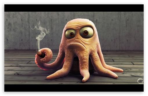 Angry Octopus ❤ 4K UHD Wallpaper for Wide 16:10 5:3 Widescreen WHXGA WQXGA WUXGA WXGA WGA ; 4K UHD 16:9 Ultra High Definition 2160p 1440p 1080p 900p 720p ; Mobile 5:3 16:9 - WGA 2160p 1440p 1080p 900p 720p ;