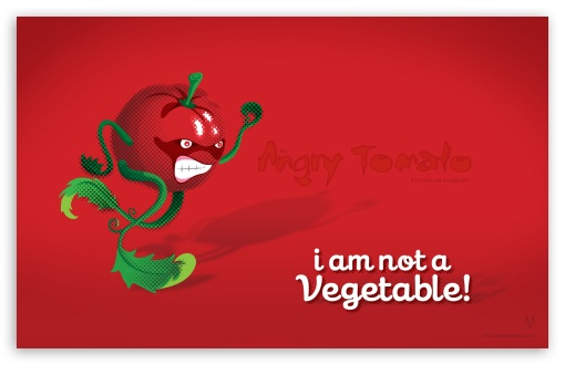 Angry Tomato HD wallpaper for Wide 16:10 5:3 Widescreen WHXGA WQXGA WUXGA WXGA WGA ; HD 16:9 High Definition WQHD QWXGA 1080p 900p 720p QHD nHD ; Standard 3:2 Fullscreen DVGA HVGA HQVGA devices ( Apple PowerBook G4 iPhone 4 3G 3GS iPod Touch ) ; Mobile 5:3 3:2 16:9 - WGA DVGA HVGA HQVGA devices ( Apple PowerBook G4 iPhone 4 3G 3GS iPod Touch ) WQHD QWXGA 1080p 900p 720p QHD nHD ;